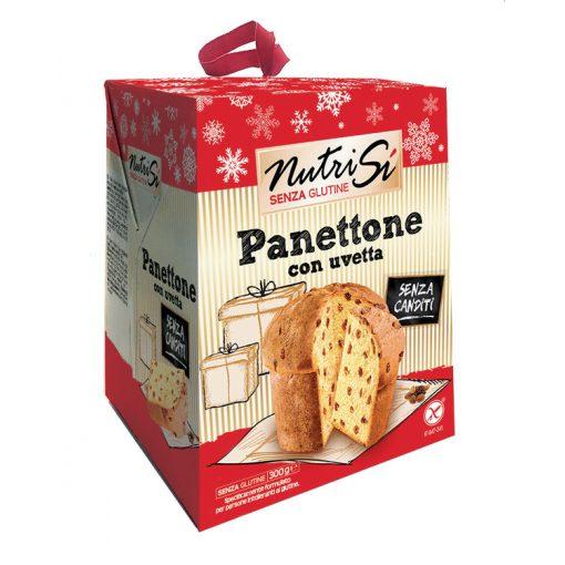 Nutrisi Panettone Con Uvetta -  gluténmentes mazsolás Panettone 300g
