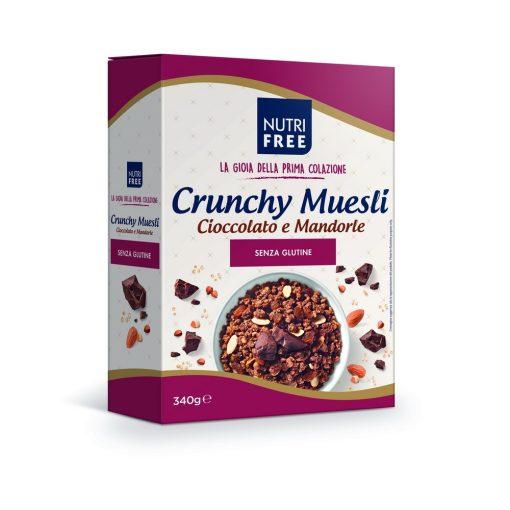 Chrunchy Muesli Cioccolato e Mandorle 340g - Csokoládés és mandulás müzli mix